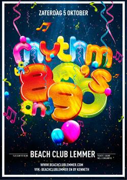 Rhythm of the 80's and 90's Beachclub Lemmer